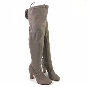 New! Schutz Tan Fabric Over the Knee Boots Size 7B